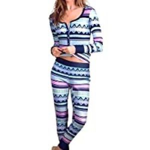 Victoria's Secret fireside thermal pajama set L